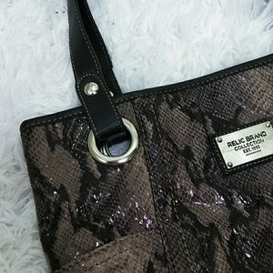 Relic Bags - Relic Taupe Faux Snakeskin Purse